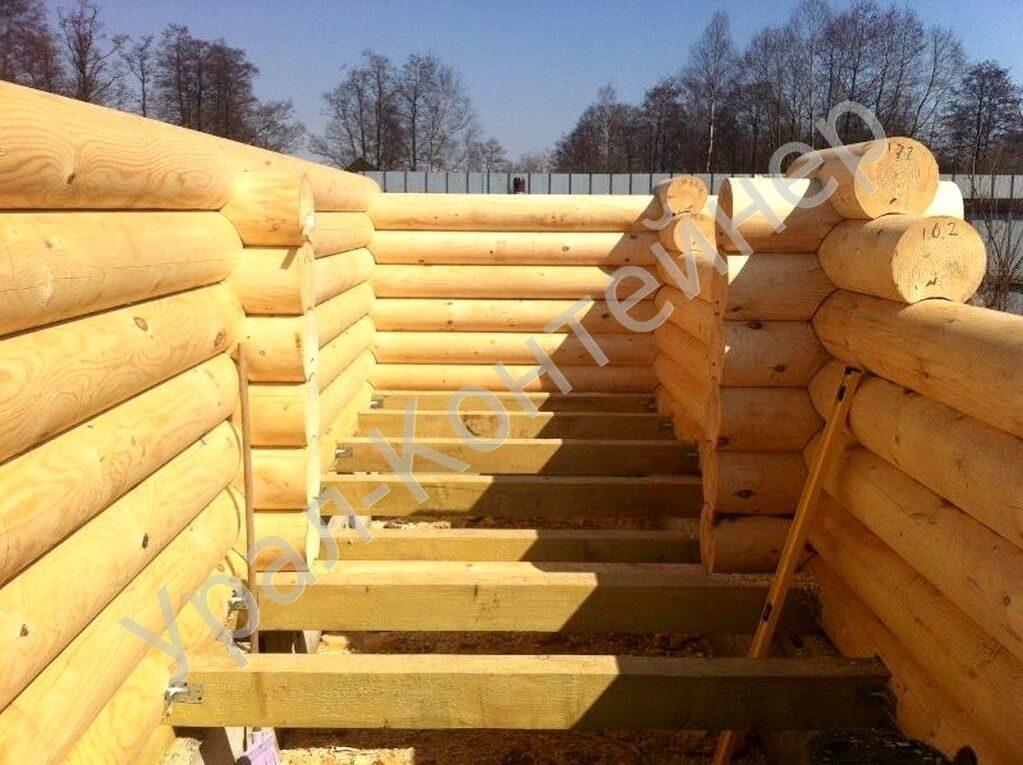 Строительство домов из оцилиндрованного бревна своими руками 23